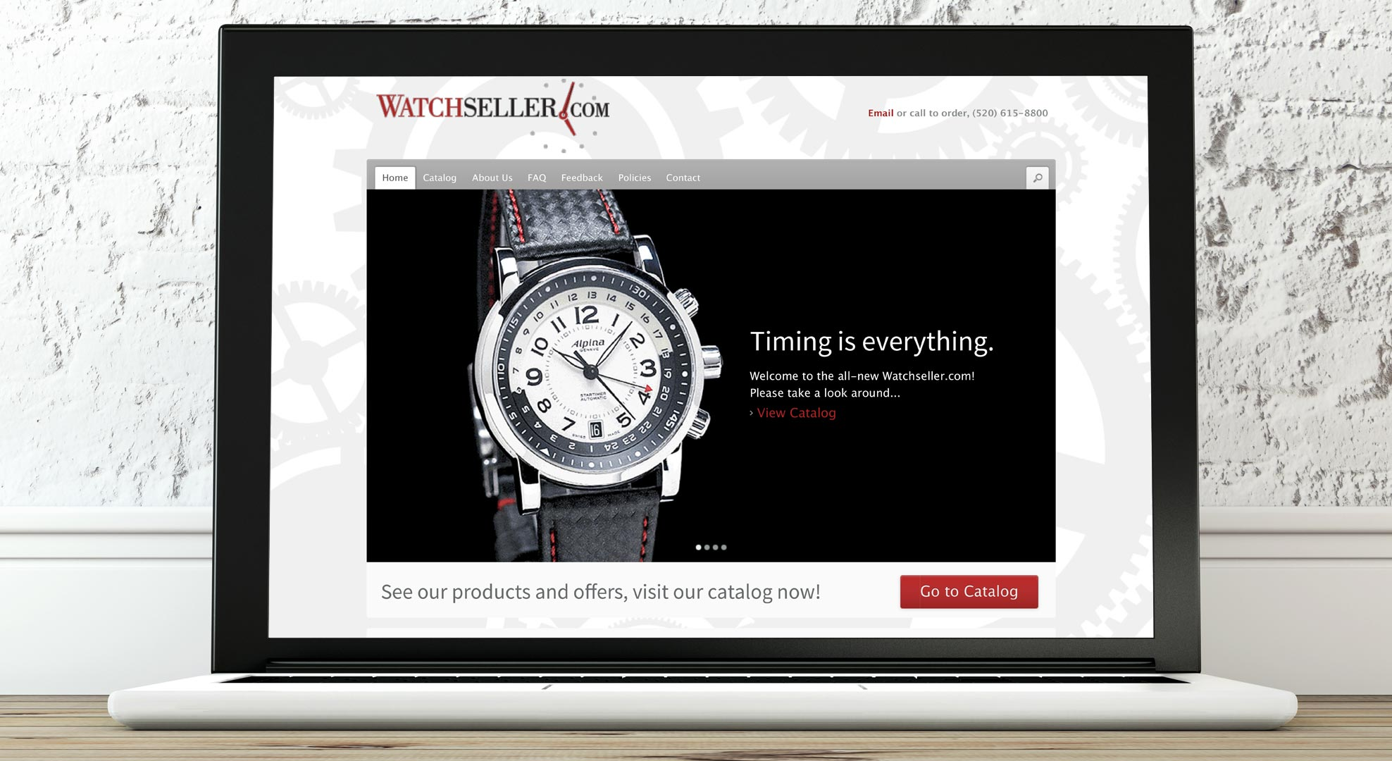 As a leader in the wrist watch sales industry, an effective website was an absolute necessity for WatchSeller. They came to Regole Design with a problem: they had an existing website that was underperforming—both in converting visitors to leads and in ease of use for site administrators.