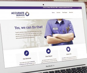 Accurate Service, a local automotive repair shop, had a very clear idea of what they wanted their new website to do for their business: capture more leads. With that in mind the website was designed around calls-to-action to 'get in touch' with their shop for repairs. The new site: effective and aesthetically pleasing, by design.