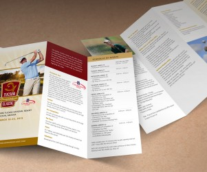 Tucson's annual PGA golf tournament is operated by the Tucson Conquistadores, a local civic organization that has contributed millions of dollars toward local athletic programs for disadvantaged youth. For many years, we have continued to create marketing and promotional materials for this widely attended event.